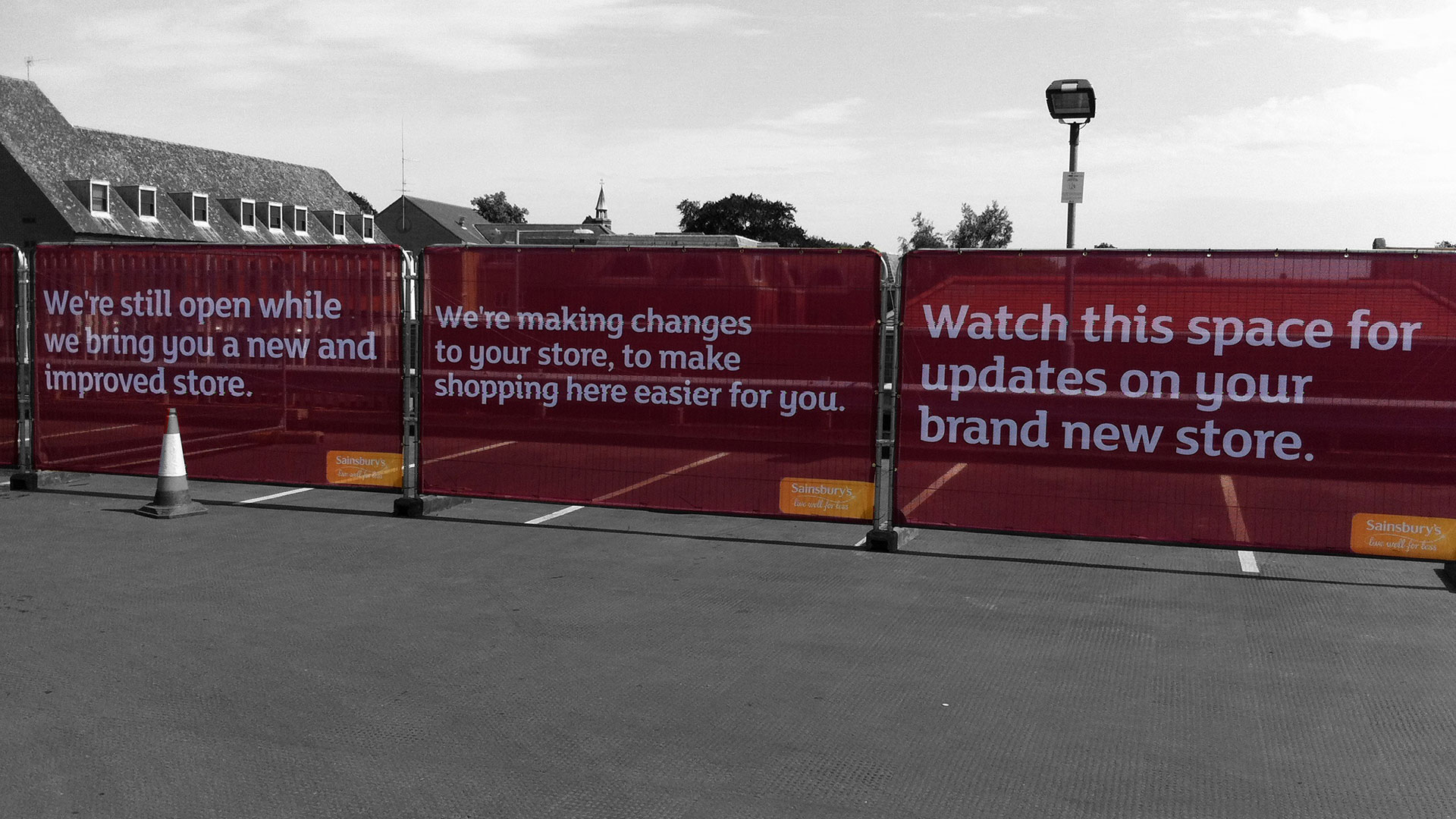 Sainsbury's Heras Fencing Banners